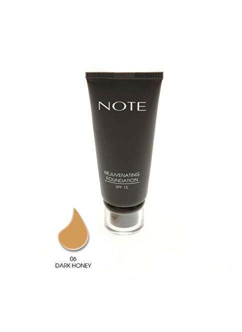 Note Note Rejuvenating Fondöten Spf15 Dark Honey 06 35Ml Renkli